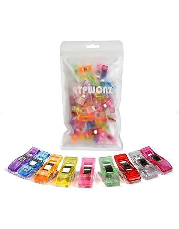 ATPWONZ 60pcs Clips de costura - Craft Clips Milagro Multicolor Abrazadera Plástico Perfecto para bordado/