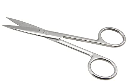 BAAL Stainless Steel Small Scissor for General Purpose (Silver, 9cm) <span at amazon