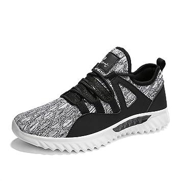 Kotzeb Zapatos Deportivos Running Hombre Sneakers Gimnasia Ponerse Zapatillas Trail Plano Negro Gris Rojo 38-43: Amazon.es: Deportes y aire libre