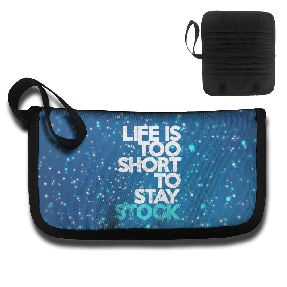Life's Too Short To Stay Stock Travel Wallet Passport Holder Document Organizer