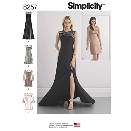 4809e863e26 Amazon.com  Simplicity Sewing Pattern D0769   8257 - Misses  Special  Occasion Dresses and Gown