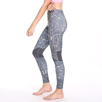GSYJK Pantalones De Yoga 3/4 Medias Deporte Mujeres ...