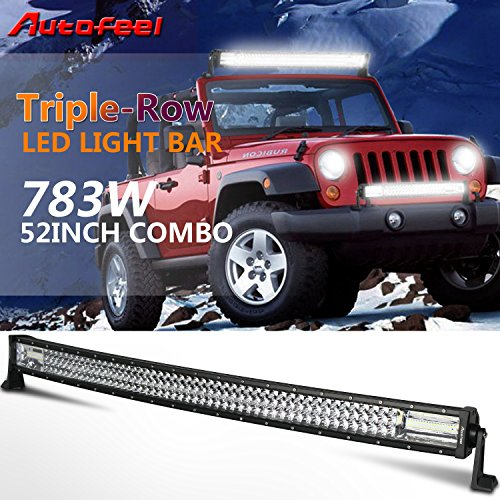 "UPC 611982509360, Autofeel 52"" Curved Led Light Bar Triple Row 783W 78300LM Cree 7D Spot Flood Combo Beam for Off Road Jeep ATV AWD SUV 4WD 4x4 Pickup"