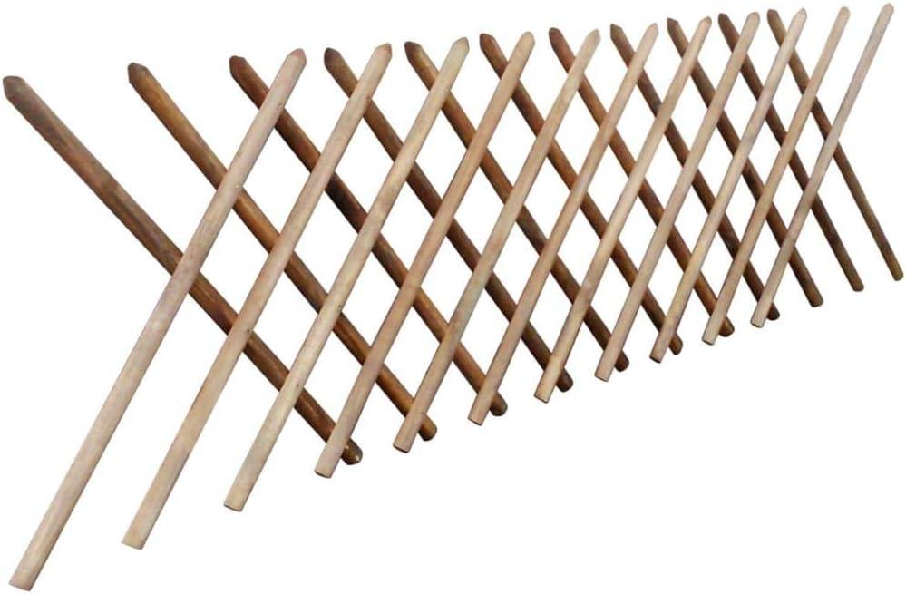 vidaXL Trellis Fence 250x60cm FSC Impregnated Wood Expandable Garden Palisade