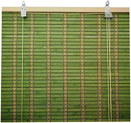 Solagua 6 Modelos 14 Medidas de estores de bambú Cortina de Madera persiana Enrollable (60 x 175 cm, Verde): Amazon.es: Hogar