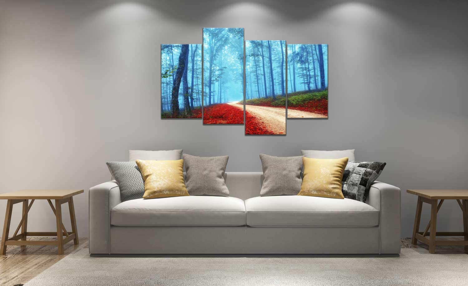 bed in a wall design woodland bedroom decor forest themed.htm amazon com muyu art 4 pieces abstract giclee prints picture wall  amazon com muyu art 4 pieces abstract