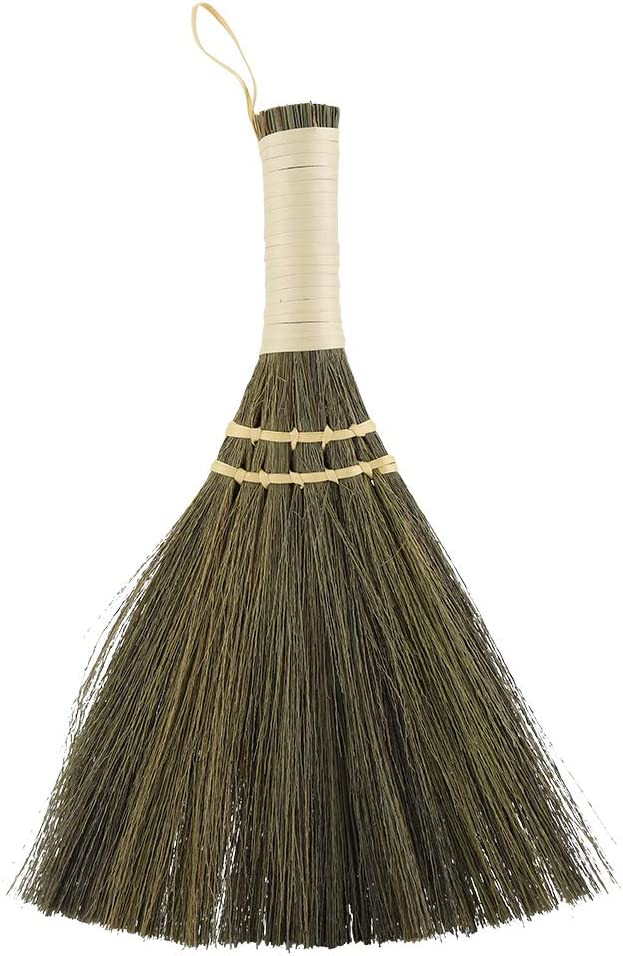 Anti Static Soft Cleaning Duster Brush Manual Straw Braided Small Broom Handmade Dust Floor Cleaning Sweeping Broom Soft for Home Furniture Car