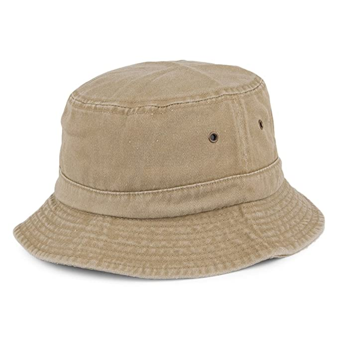 Sombrero de pescador de algodón - Kaki  Amazon.es  Ropa y accesorios 22a25a46015