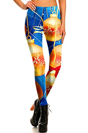 57807ba3afac4 World of Leggings Women s Christmas Holiday Festive Leggings - Shop ...