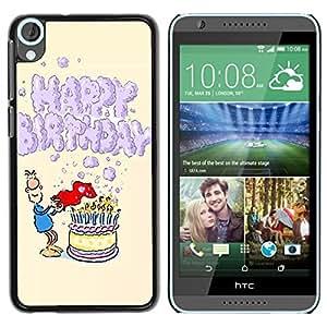 Dragon Case - FOR HTC Desire 820 - happy birthday - Caja protectora de pl??stico duro de la cubierta Dise?¡Ào Slim Fit