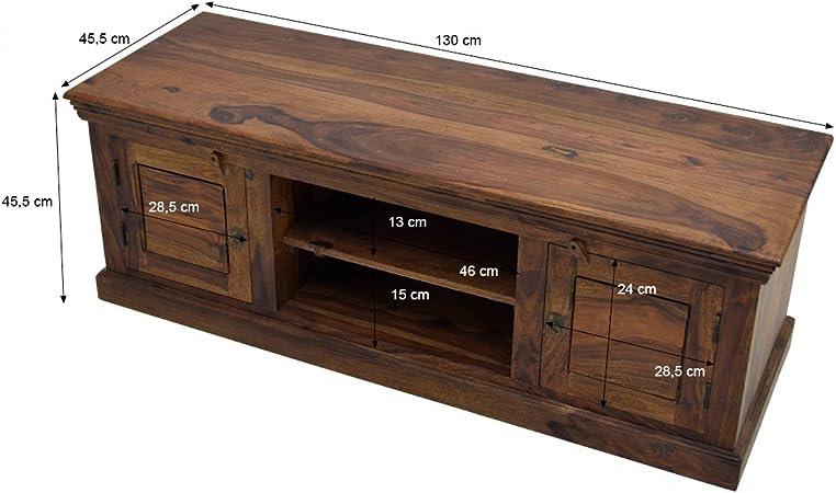Mobel Ideal Tv Lowboard Sheesham Massivholz Fernsehschrank Braun Natur Geolt 130 X 45 Cm Board Vollholz Amazon De Kuche Haushalt