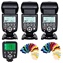 YONGNUO 3pcs YN-560 III Manual Flash Speedlite Light + YN560-TX LCD Wireless Manual Flash Controller For Canon