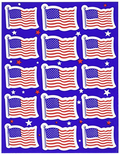 Beistle 54017 4-Pack US Flag Stickers, 43/4 by -