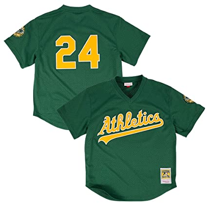 4bed0d36f Rickey Henderson 1998 Oakland Athletics Authentic Mesh Batting Practice  Jersey (40 M)
