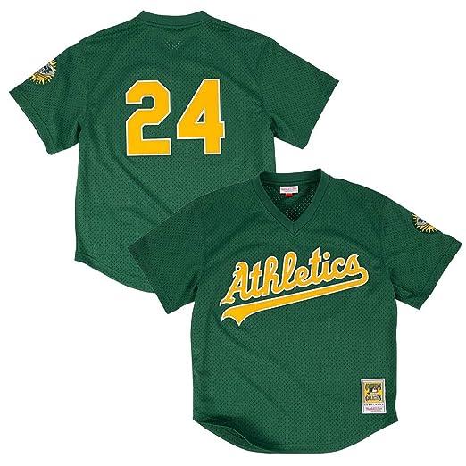 f1310f59 Amazon.com : Rickey Henderson 1998 Oakland Athletics Authentic Mesh Batting  Practice Jersey (56/3XL) : Clothing