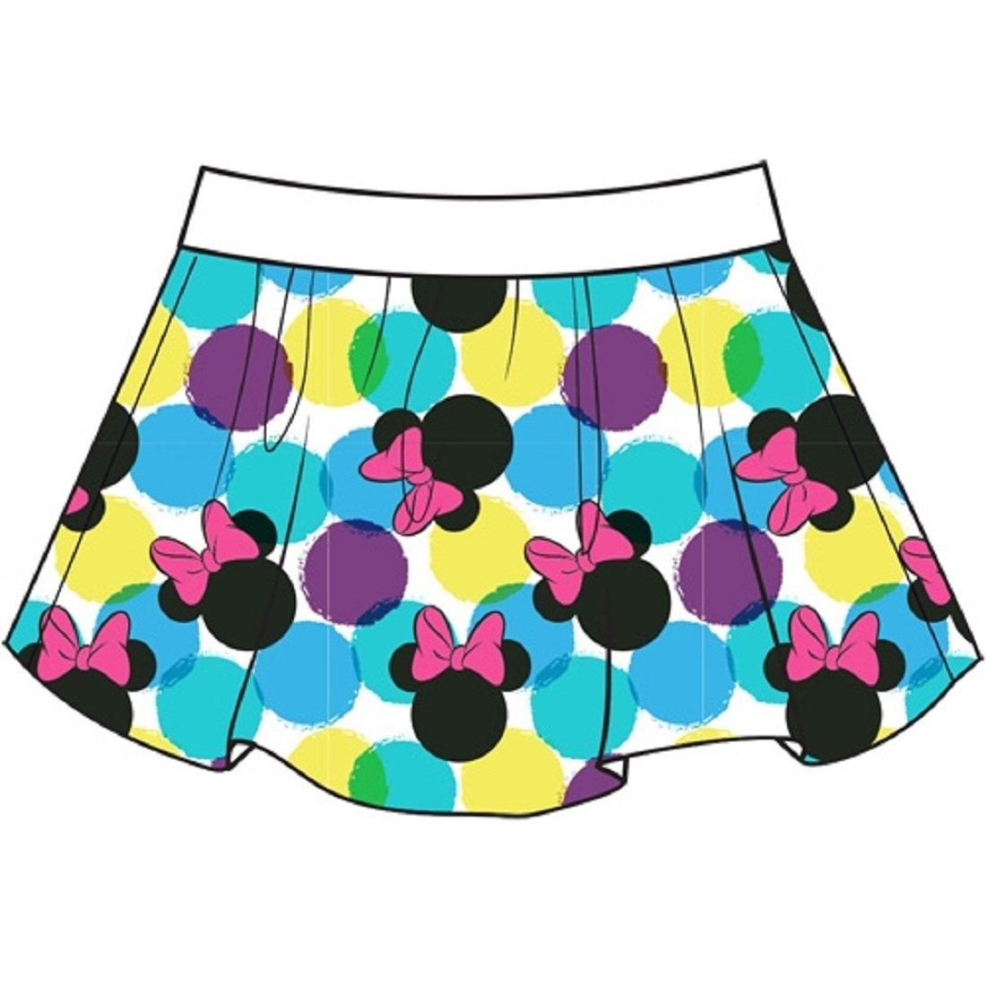 Disney Youth Girls Skort Skirt/Short Simple Minnie Print (Multi Colored, X-Small)