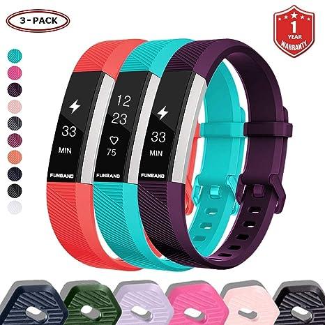 FunBand Bracelet pour Fitbit Alta HR et Fitbit Alta, Bande en Silicone Souple Sangle de