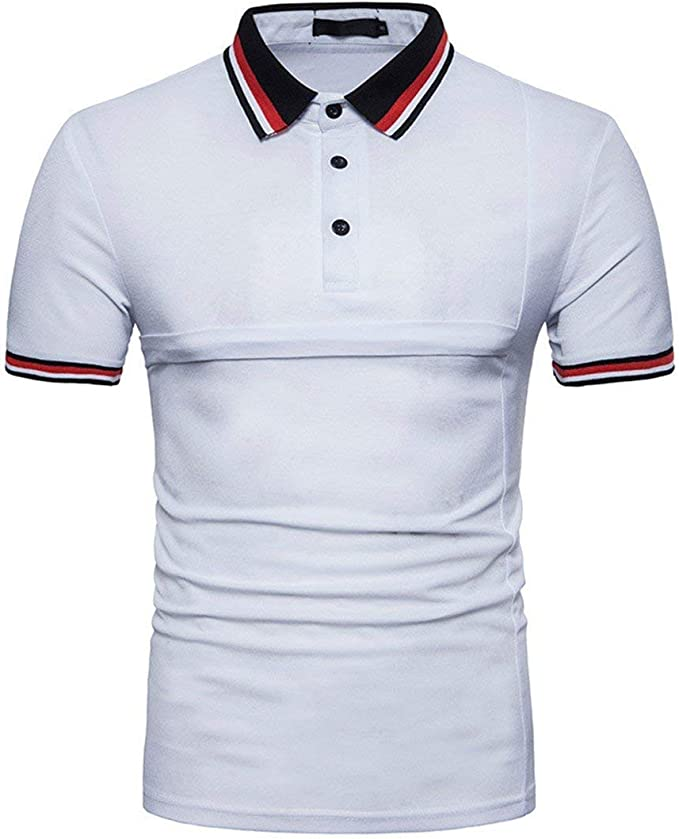 Battercake Polo Camisa Hombre Hombres Básica Casual Costura ...
