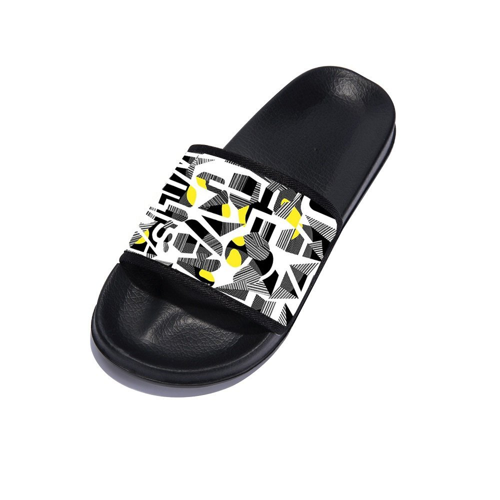 Eric Carl Women Shower Shoes Bathroom Slippers Gym Slippers Soft Sole Open Toe House Slippers