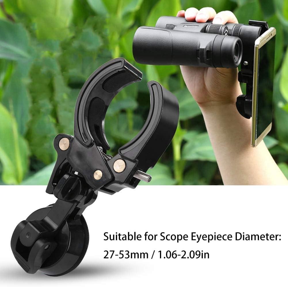 Adapter Mount Universal Cellphone Adapter Phone Holder Mount Fits Eyepieces Diameter from 27mm-53mm Telescope Monocular Binoculars Scope Eyepiece