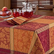 Montvale Woven Jacquard Tablecloth, 70-Inch Round