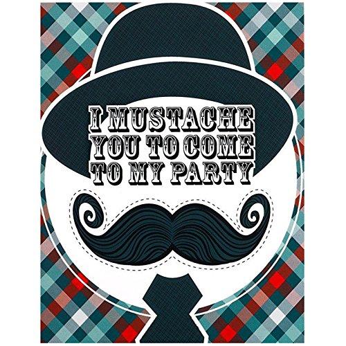 BirthdayExpress Little Man Mustache