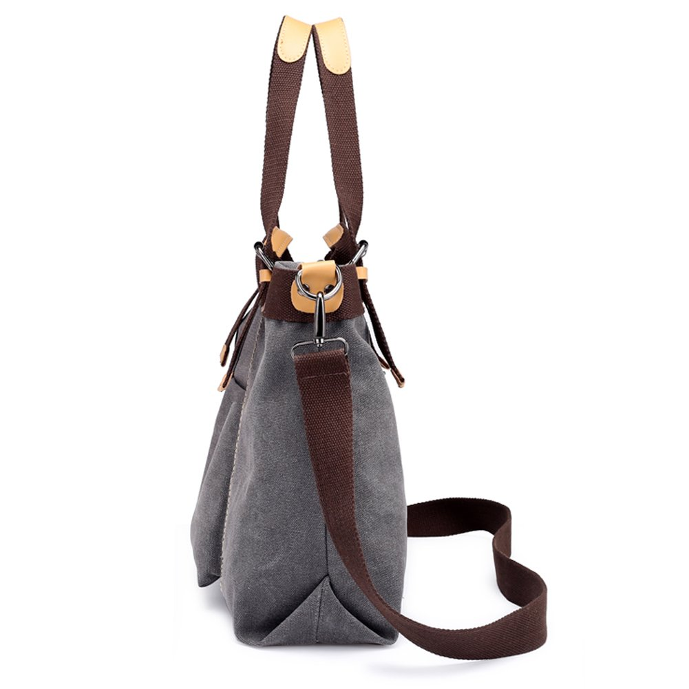 Z-joyee Women Shoulder bags Casual Vintage Hobo Canvas Handbags Top Handle Tote Crossbody Shopping Bags by Z-joyee (Image #3)