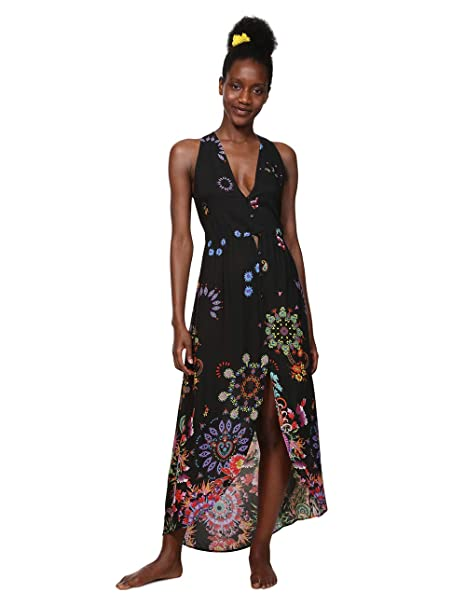 32e3b04ee Desigual Dress Swimwear Magda Woman Black Vestido para Mujer  Amazon ...