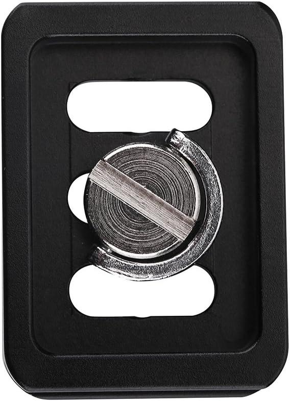 Tragbare Aluminiumlegierung Schnellwechselplatte Kamera Mount Tackle Fotografie Zubeh/ör f/ür SIRUI TY-C10 T005 Schnellspanner Adapter T-025 Kugelkopf