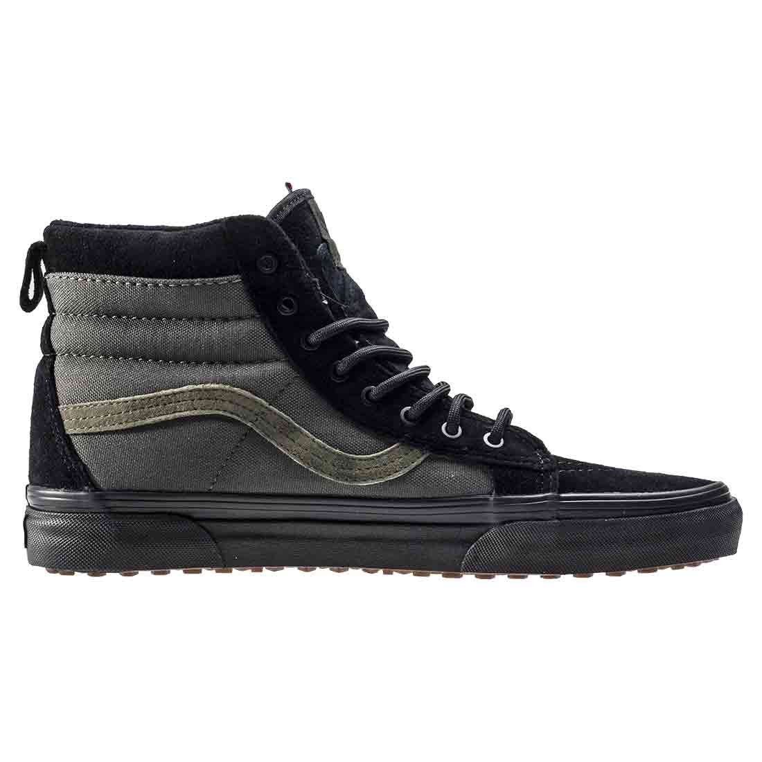 Vans Sk8-Hi Unisex Casual and High-Top Skate Shoes, Comfortable and Casual Durable in Signature Waffle Rubber Sole B01MPW0VC9 7.5 D(M) US|Black / Rosin b72a1e