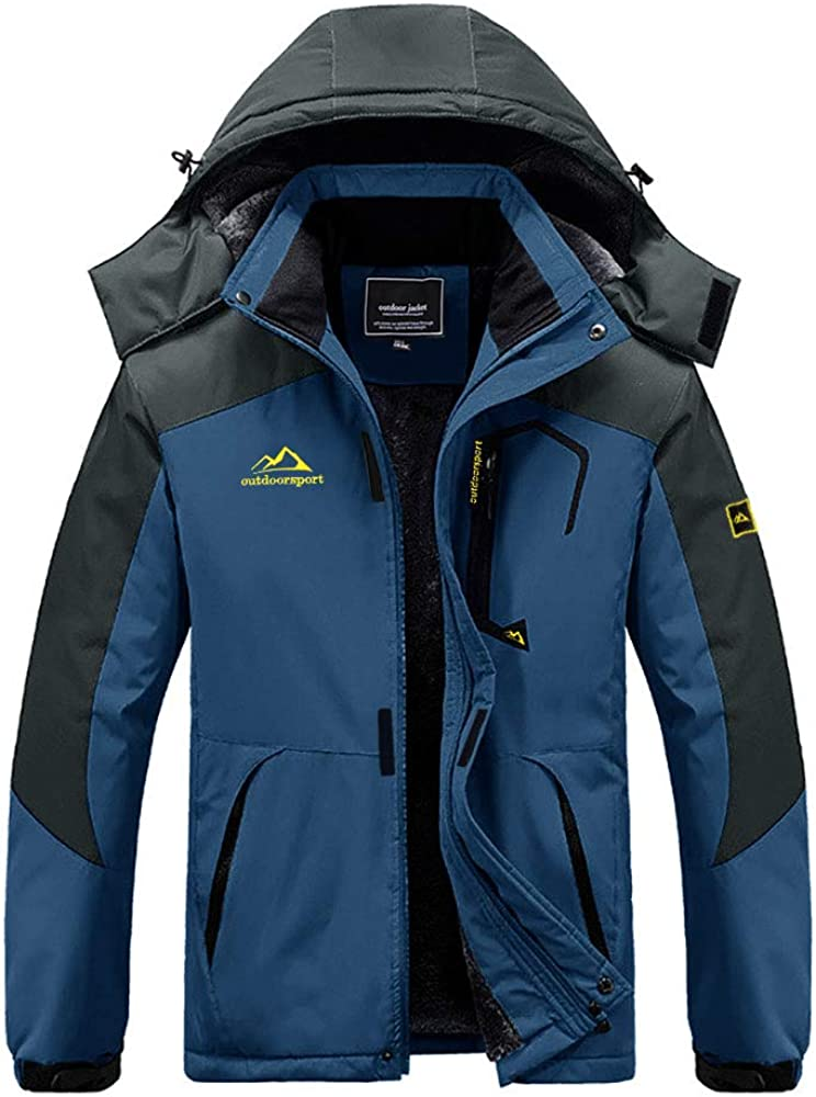 BIYLACLESEN Men's Winter Coats Windproof Parka Fleece Lined Ski Snowboard Jacket Windbreaker: Clothing