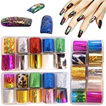 Warm Girl 3 box Starry Sky Stars Nail Art Stickers Tips Wraps Foil Transfer Adhesive Glitters Acrylic DIY Decoration Tips