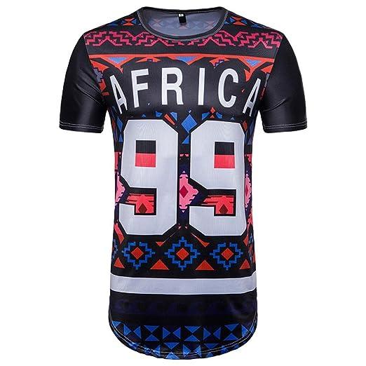 Camisetas hombre, ❤️⚽️Ba Zha Hei Impresión de texto 99 Camiseta Para Hombre Fútbol Impresión Manga Corta Delgado Ajuste Blouse Para…