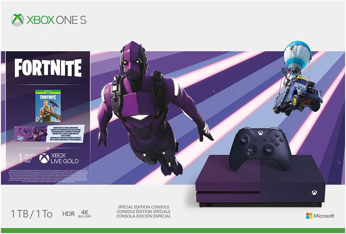 purple xbox one s fortnite bundle
