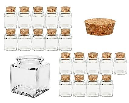 Juego de vasos de especias con Press de corcho | 24 piezas ...