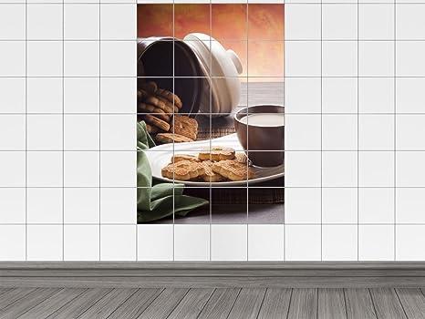 Piastrelle adesivo piastrelle quadro da biscottiera con dolci per
