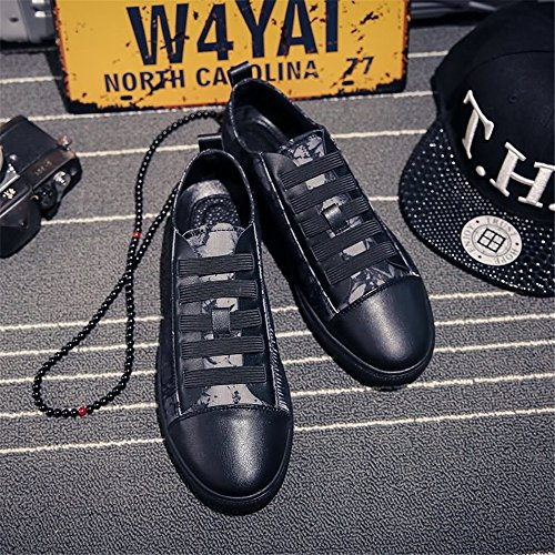 Mocassins Floral Noir shoes pour Shufang Homme gwH5qfnn