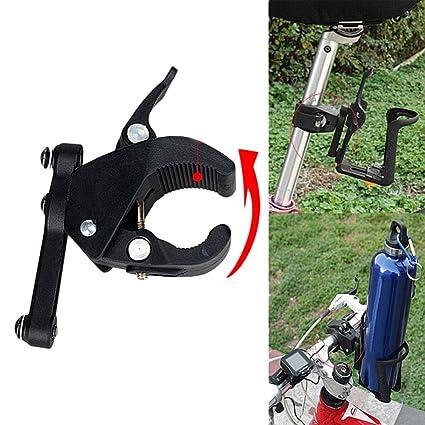 Bike Bicycle Water Bottle Cage Holder Clamp Clip Handlebar Bracket Mount