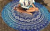 chezmax Ronda de manta Roundie playa bufanda gasa. Círculo Esterilla de yoga indio hippie Tapestry mantel protector solar chal, Pattern 17