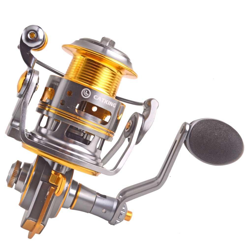 釣りリールwith BaitcastingリールUltra Smooth磁気ブレーキシステム5.1 : 1ギア比餌鋳造釣りトローリングリール11 + 1bbライト重量Ultra Smoothゴールド ACE20 ゴールド B0797Z5Z48