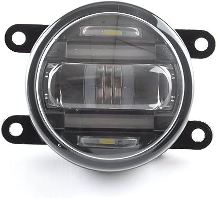 90 mm redondo Auto coche camión DRL diurna antiniebla LED de ...