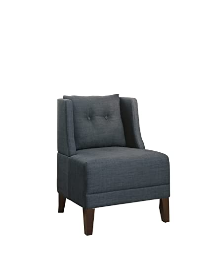 Poundex Bobkona Prissy Accent Chair In Blue Gray, 0
