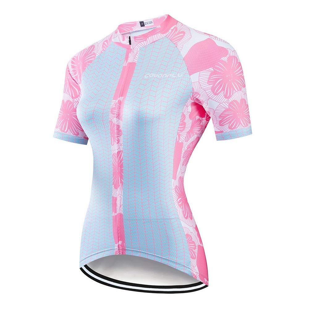 Bike Jersey Sommer Damen Outdoor Sports Bike Reitanzug Gleitanzug Team Sports Wandern Laufbekleidung Fahrradtrikot für Frauen LPLHJD