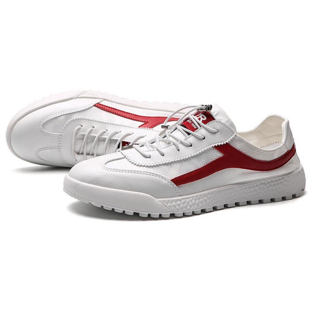GAOLIXIA Zapatos de lona de los hombres Zapatos deportivos transpirables de verano Zapatos cómodos al aire libre cómodos Negro Rojo (Color : Rojo, tamaño : 39) 39 Rojo