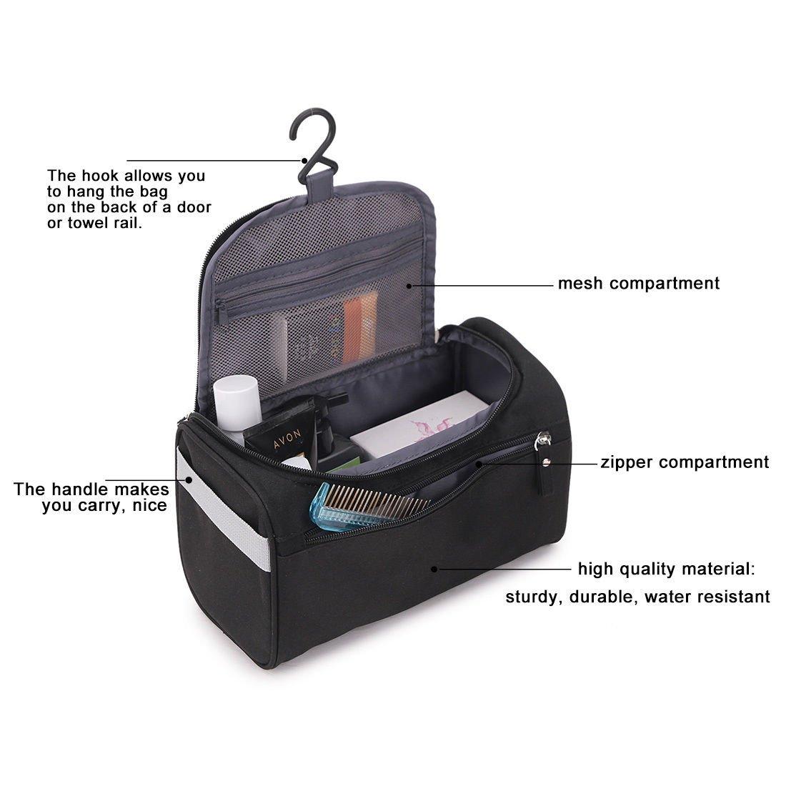4cbad764ad59 ONEGenug Toiletry Bag Overnight Wash Bag Hanging Gym Shaving Bag for Men  and Women Ladies Travel