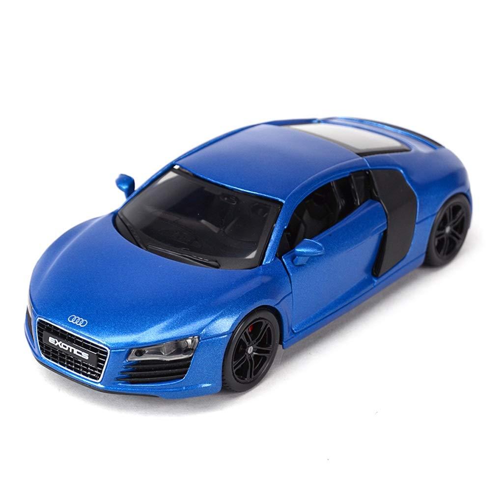 bleu  RENJUN Modèle de Voiture 1 24 Audi R8 Alliage de Simulation Moulage sous Pression Jouet OrneHommests Collection de Voitures de Sport Bijoux 18x8x6 CM (Couleur   bleu)