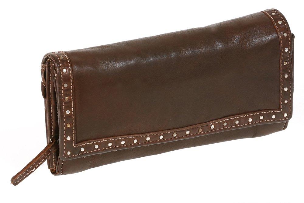 Damenbörse Geldbörse LEAS Sicherheitsklappe Echt-Leder Portemonnaie schwarz