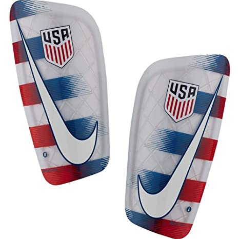 new concept 6a3b1 f92a5 NIKE USA Mercurial Lite Shinguards Red White Blue (Large)