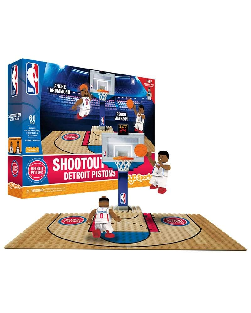 Small OYO NBA Detroit Pistons Display Blocks Shootout Set No Color Sports Images Inc OYOBKTDETSO