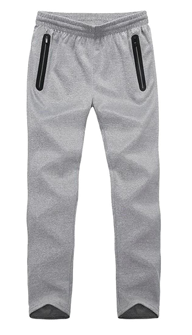 Macondoo Mens Casual Sweatpants Athletic Solid Big and Tall Elastic Waist Pants